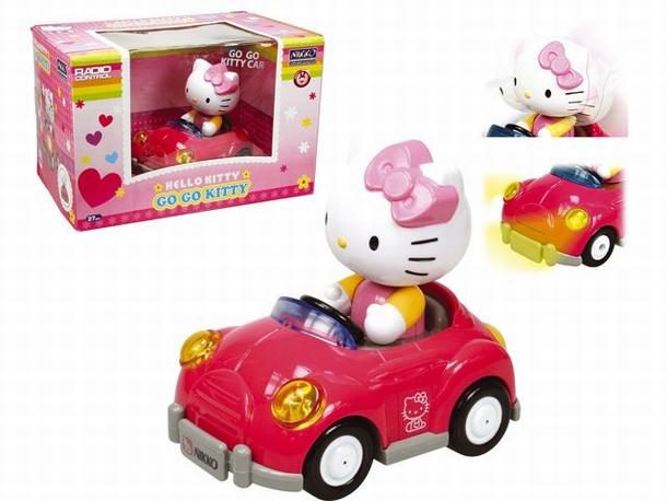 Nikko Hello Kitty RC speelgoed modelbouw Auto 1:18