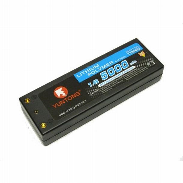 Yuntong 2S 7.4V 5400 mAh LiPo 50C Hardcase 4 mm accu pack
