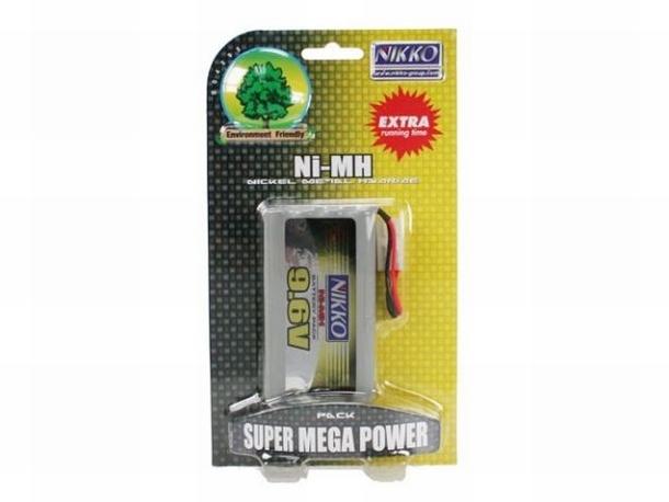 Nikko 9.6V 700 mAh NiMH Mega Pack accu battery met stekker
