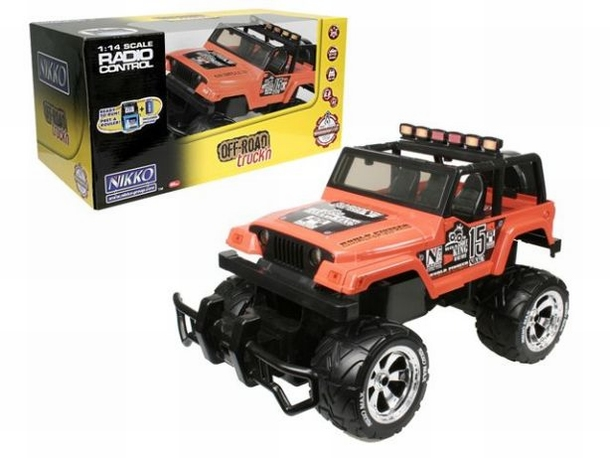 Nikko Jeep Rubicon speelgoed modelbouw RC Monster Car 1:14
