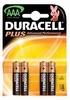 Duracell AAA LR3 MN2400 bl/4 Plus alkaline Batterijen